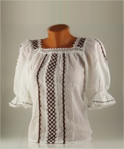 "The ""Simona"" Lace and Linen Blouse - CleverElement"