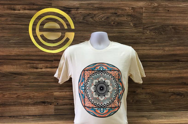 Transient Compound 3-Color Mandala Printed Graphic Top