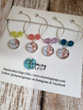 Carlsbad - Oceanside - Encinitas - Leucadia Map Wine Charms