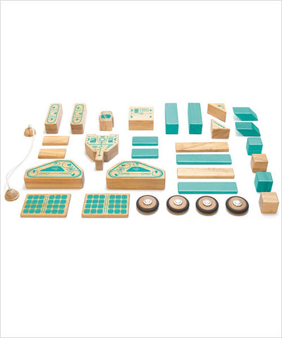 Magnetic Wooden Block Set - Magnetron - Designed in USA - Fair Trade from Honduras