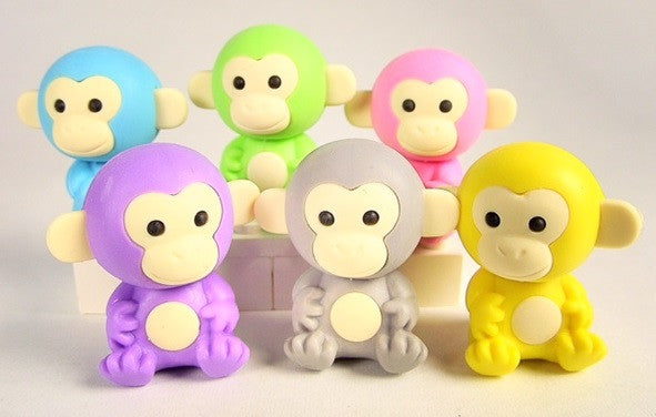 Japanese Collectible Erasers - Monkey Collection