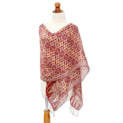 Indonesian Silk Shawl - CleverElement  - 7