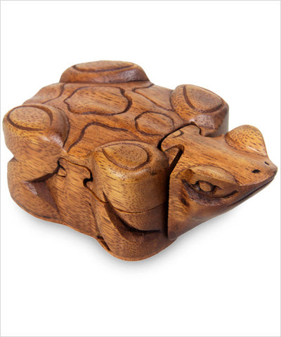 Handmade Frog Puzzle Box - CleverElement  - 1