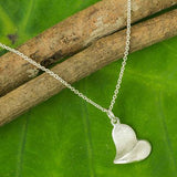 Hanging Heart Sterling Silver Fair Trade Pendant - CleverElement  - 2