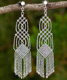 Sterling Silver Fair Trade Hand-crafted Macrame Regal Earrings - CleverElement  - 1