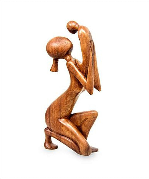 New Moments Hand-carved Fair Trade Wood Sculpture