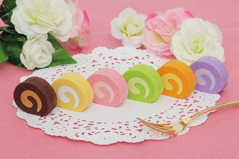 Japanese Collectible Erasers - Roll Cakes