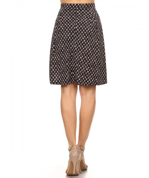 3c23d424d8 Navy and White Criss-Cross Design Skirt - Made in America – Clever Element