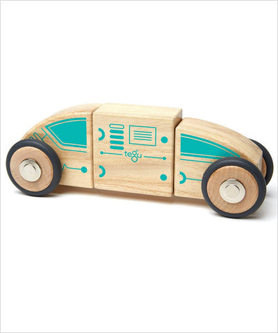 Magnetic Blocks - Circuit Car Racer - Designed in USA - Fair Trade from Honduras