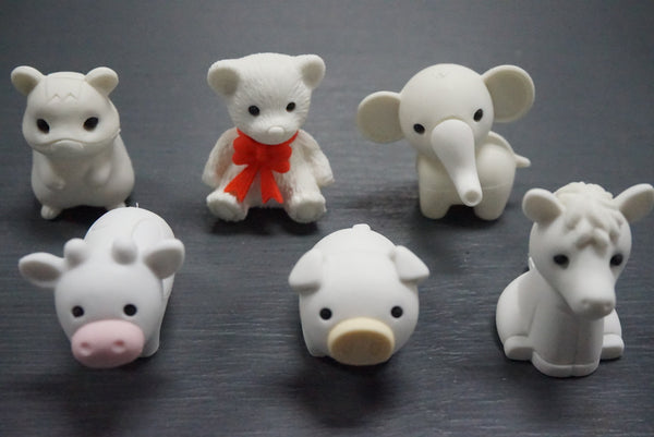 Japanese Collectible Erasers - Animal Collection