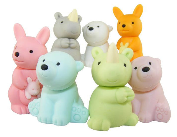 Japanese Collectible Erasers - Wild Animal Collection