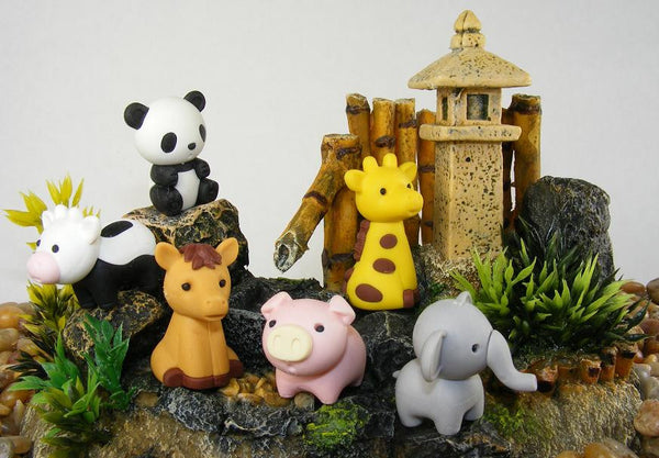 Japanese Collectible Erasers - Zoo Animal Collection