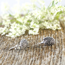 Load image into Gallery viewer, Hedgehog Stud Earrings, Sterling Silver