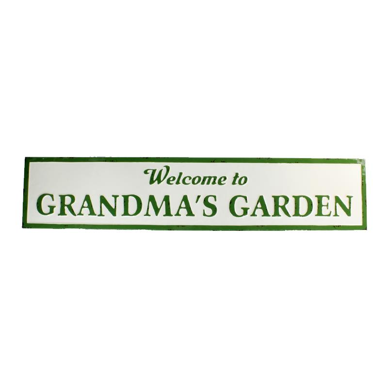 Grandma's Garden Metal Sign