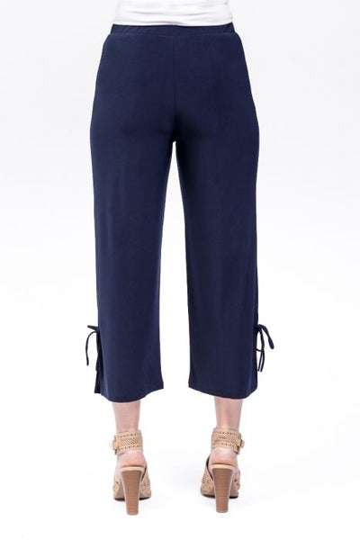 Capris with Tie Detail : Navy (S-XXL)