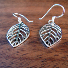 Load image into Gallery viewer, Leaf Earrings in Sterling Silver