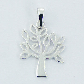 Olive Tree Pendant, Sterling Silver