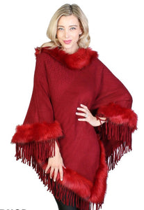 Cathie Poncho : Cranberry