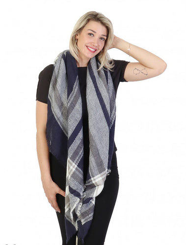 Mia Blanket Scarf/Wrap : Blues