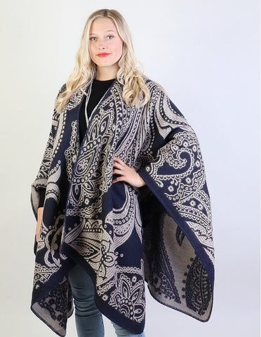 Paisley Cape : Navy