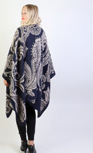 Load image into Gallery viewer, Paisley Cape : Navy