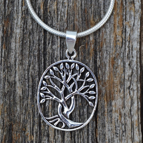 Blended Family Sterling Silver Tree of Life Pendant, Sterling Silver