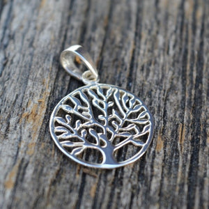 Multi Branch Tree of Life Pendant, Small, Sterling Silver