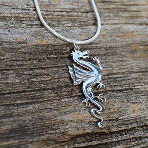 Dragon Pendant, Sterling Silver