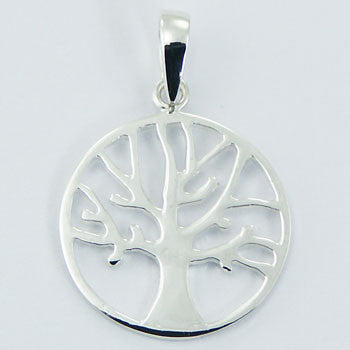 Autumn Tree Pendant, Sterling Silver