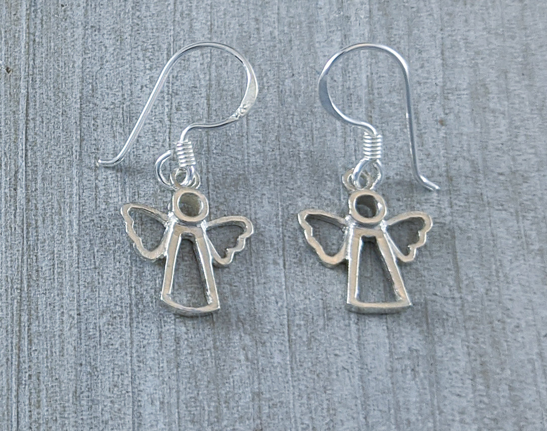 Angel Earrings, Sterling Silver