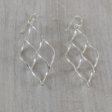 Load image into Gallery viewer, Twirls Earrings, Sterling Silver