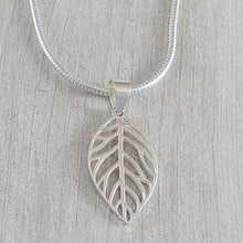 Load image into Gallery viewer, Large Leaf Pendant, Sterling Silver