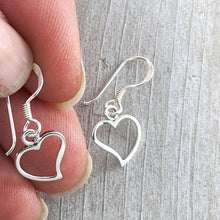 Load image into Gallery viewer, Tiny Heart Earrings, Sterling Silver
