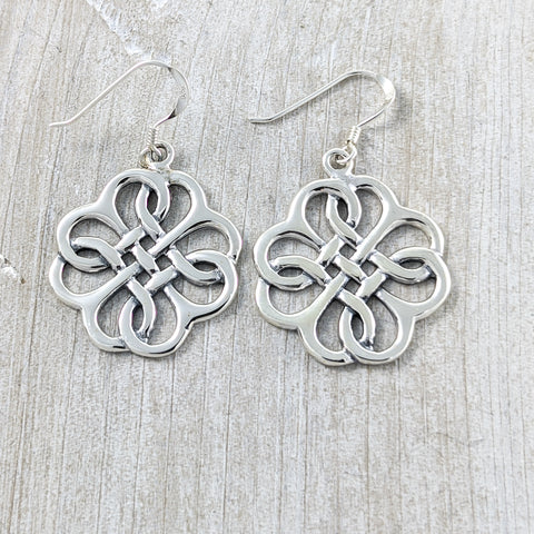 Stunning Celtic Knot Earrings, Sterling Silver