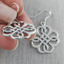 Load image into Gallery viewer, Stunning Celtic Knot Earrings, Sterling Silver