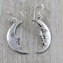 Load image into Gallery viewer, Cresent Moon Earrings, Sterling Silver