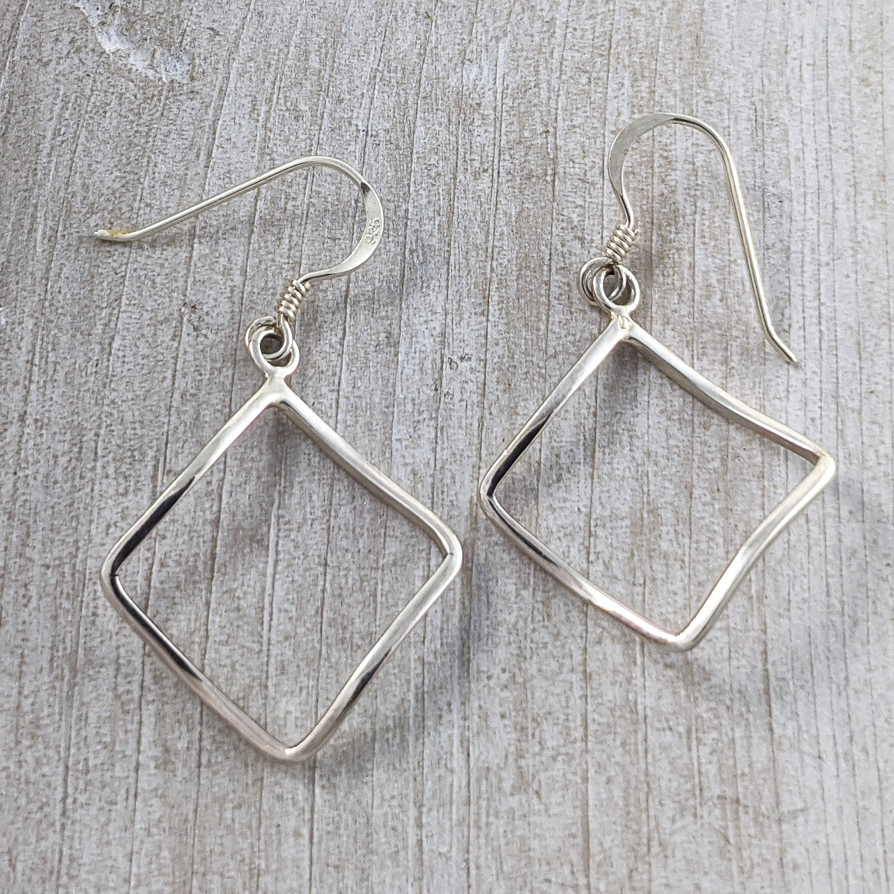 Geometric Earrings, Sterling Silver
