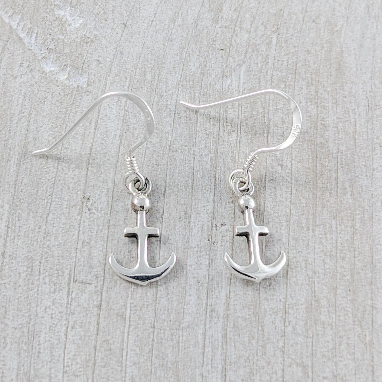 Little Anchors Earrings,  Sterling Silver