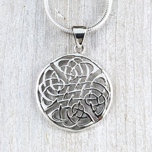 Large Never Ending Knot Pendant, Sterling Silver