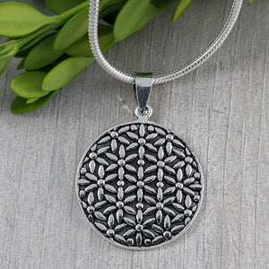 Flower of Life Pendant, Sterling Silver