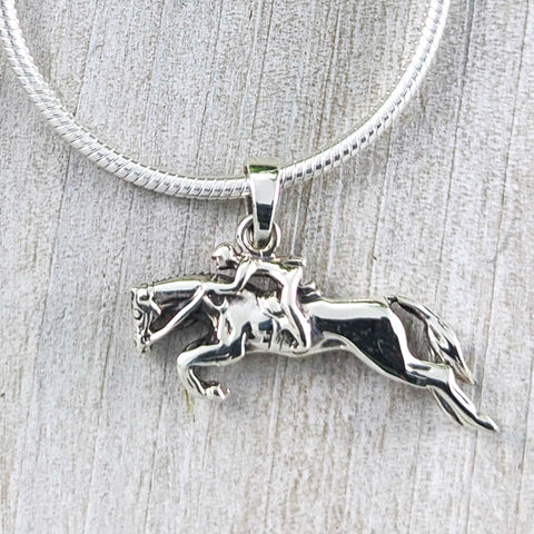 Racing Horse Pendant, Sterling Silver