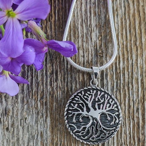 Many Roots Tree of Life Pendant, Sterling Silver