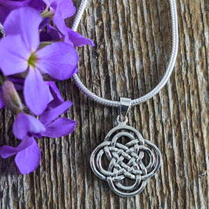Celtic Knot Pendant, Sterling Silver