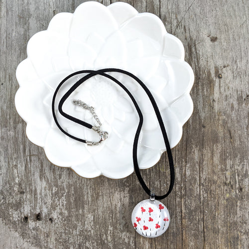 Glass Necklace : Poppies