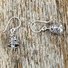 Load image into Gallery viewer, Small Filigree Bell Earrings, Sterling Silver