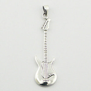 Electric Guitar Pendant, Sterling Silver