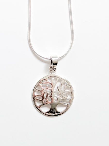 Tree Pendant, Sterling Silver