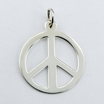 Peace Symbol Sterling Silver Pendant (small)