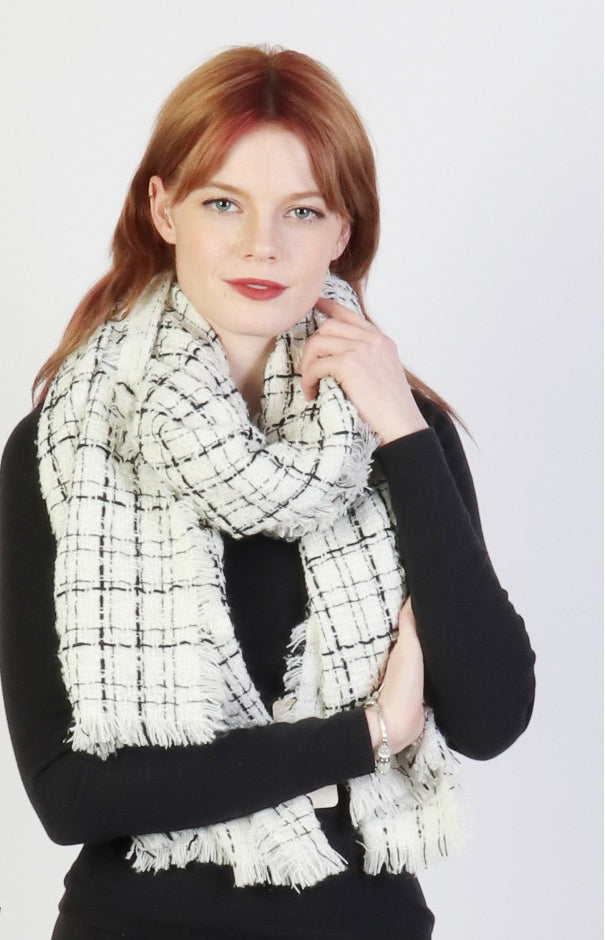 Penelope Winter Scarf : White