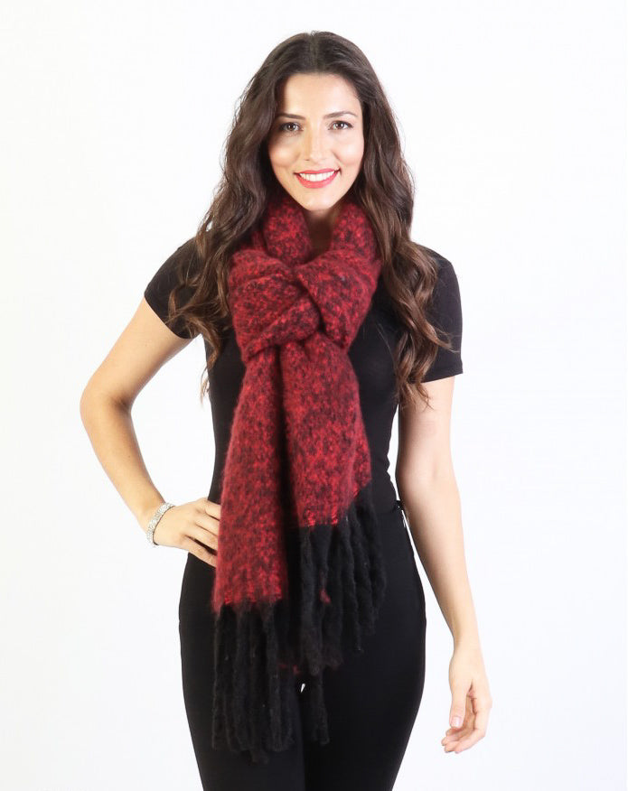Ava Winter Scarf : Red